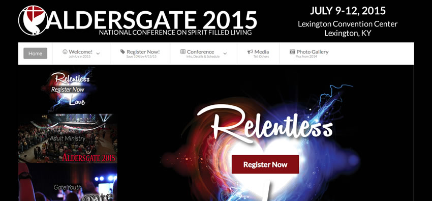 Aldersgate 2015 Website