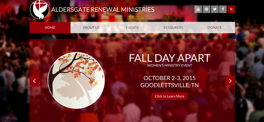 Aldersgate Renewal Website